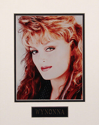 Wynonna 8x10 Color Glossy Photo Custom Matted w/ Engraved Nameplate #1