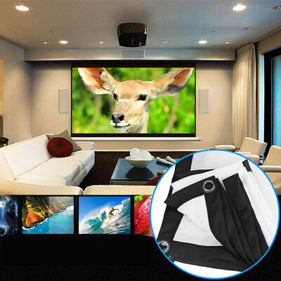 Foldable Projector Screen HD 16:9 Home Cinema Indoor Movie Projection 3D LI