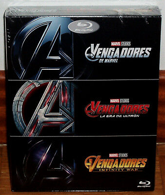 Avengers Collection 3 Films Blu-Ray Scellé Action (sans Ouvrir) R2