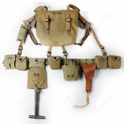 Repro Combination of WWII WW2 US M1 Paratrooper Equipment m36 Musette Shovel