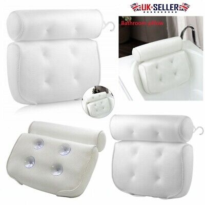 3D Mesh Non-Slip Cushioned Bath Tub Spa Pillow Head Rest Pillow With Suction Cup
