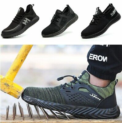 Mens Steel Toe Safety Shoes Trainers Breathable Lightweight Womens Work Boots UK