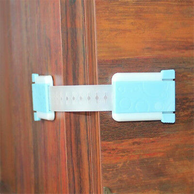 Child Kids Baby Safety Lock For Door Drawers Cupboard Cabinet Adhesive LI