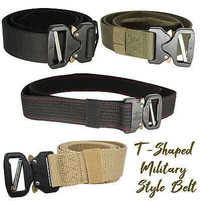 Men Quick Release Buckle Army Trouser Waist Belt Military Tactical Nylon Webbing