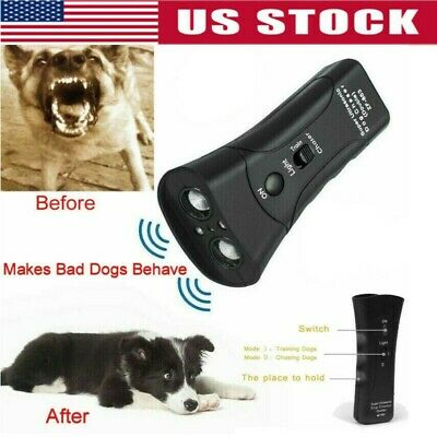 Ultrasonic Anti Dog Barking Pet Trainer LED Light Gentle Chaser,Petgentle Style