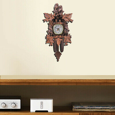 Vintage Cuckoo Clock Forest Quartz Swing Wall Alarm Handmade Room Decor 304
