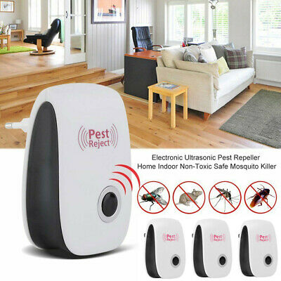 4PCS Ultrasonic Pest Reject Electronic Magnetic Repeller Anti Mosquito Insect