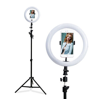 "10"" 126Pcs LED Ring Light Dimmable 5500K for SmartPhone/Camera with Phone Clip"