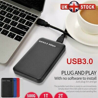 1TB 2TB 2.5'' USB 3.0 External Hard Drive Disk HDD Fit For PC Laptop Portable