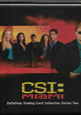 CSI Miami Series 2 - Mini Master Set In Offical Binder - Strictly Ink 2005