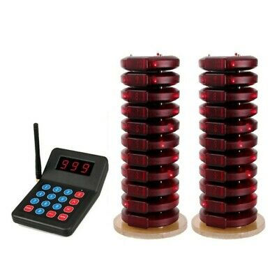 Wireless Equipment Calling Paging System 20Coaster+1xTransmitter Restaurant/Cafe