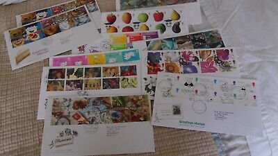 11 x GREETINGS STAMPS FIRST DAY COVERS x 11 EDINBURGH POSTMARKS - VGOOD COND