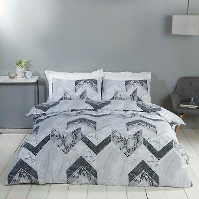 Rapport Palazzo Marble Effect Reversible Duvet Cover Bedding Set FREE P&P