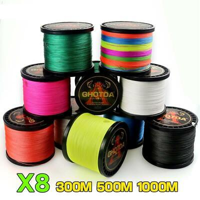 Fishing Line 8 Strands 1000M 500M 300M PE Braided Tresse Saltwater Weave Wire