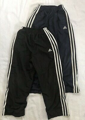 ADIDAS Athletic Jogging Pants Lot YOUTH BOYS SMALL /7 Mesh Lined Black Navy Blue