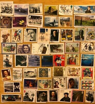 Over 50 GB Commemorative Postage Stamps On Paper Queen Elizabeth II Comms E