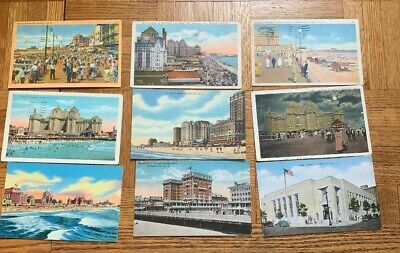Lot of 50 Antique Early to Mid 20th  Century Atlantic City Postcards