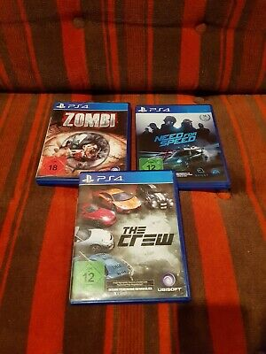 PS 4 SPIELE Need for Speed Zombi The Crew USK 18 PlayStation 4