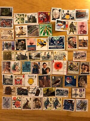 Over 50 GB Commemorative Postage Stamps On Paper Queen Elizabeth II Comms H