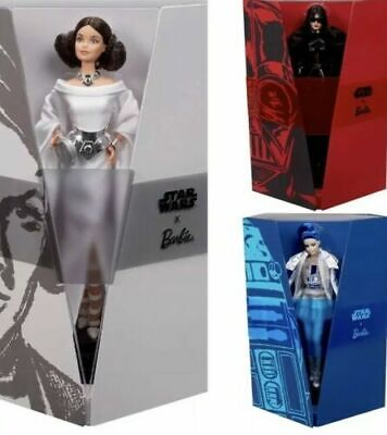 Barbie Doll as Darth Vader, Leia, R2D2 Lot Gold Label Robert Best PreOrder ALL 3