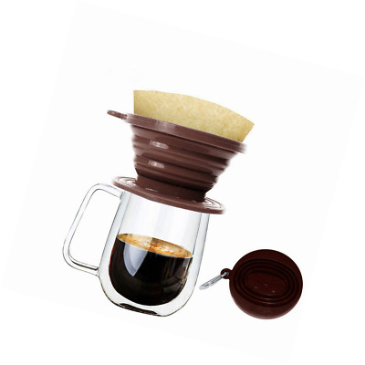 Wolecok Silicone Collapsible Coffee Filter, Camping Dripper Cone, Pour Over Brew