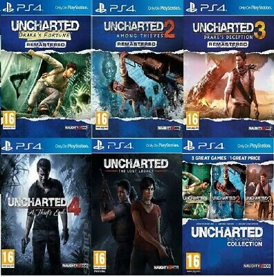 PS4 Uncharted PS4 Assorted Bundle Pick 1 or Bundle UP MINT - SUPER FAST DELIVERY