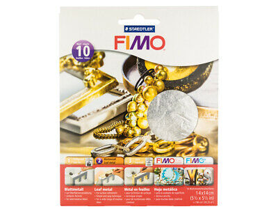 Fimo 14cmx14cm Silver Leaf Cover Sheets, Pack of 10