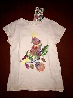 NWT H&M 6/7 Pink T-shirt Tee by Michelle Morin Paradise Bird