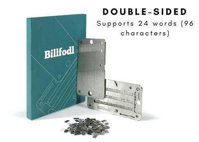 Billfodl Private Key Backup + tamper proof sticker (better than Cryptosteel)