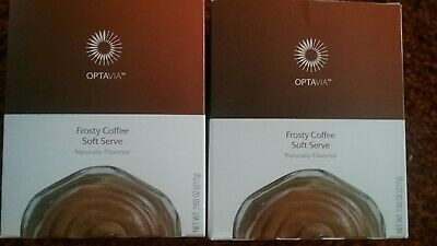 New - Optavia Medifast 2 Box Frosty Coffee Soft Serve  14 Meals Fueling