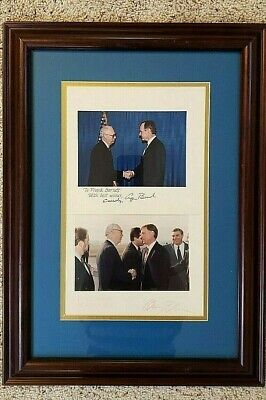 Signed Photos George Bush and Dan Quayle & Gov of Samoa - Frank Barnett  Rare