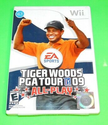 Tiger Woods PGA Tour 09: All-Play (Nintendo Wii, 2008) Complete Golf Video Game