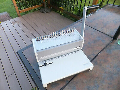 CompIete Ibico Ibimatic Heavy Duty Metal Preset Punch & Bind System W/Manual