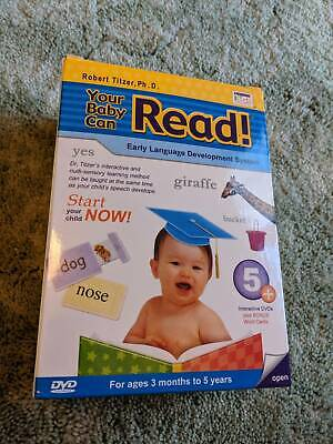 Your Baby Can Read DVD box set (6 DVDs, 1 CD) with bonus word cards
