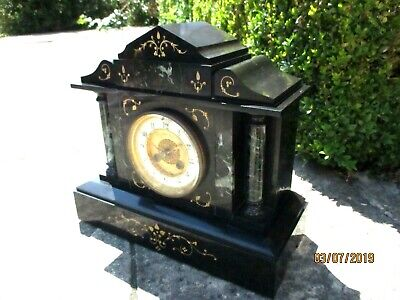 "Superb French Marble 8 Day Striking Clock, by  ""L.P. Japy ""  1887."