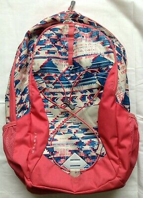 North Face Jester Backpack - White Native Frequencies Pattern - Calypso Coral