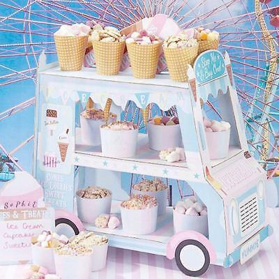 ICE CREAM cupcake van Cars Display Stand Birthday party wedding Favor