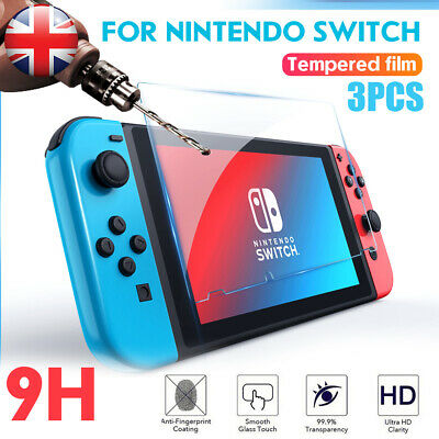 3 Pack Nintendo Switch Console PREMIUM TEMPERED GLASS  Screen Protector Cover UK