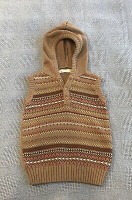 Soda, Kids Unisex Hooded Sleeveless Knitted Vest, Best Suits Size 3