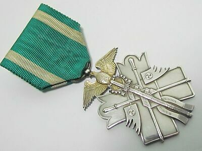 Ww2 Japanese Golden Kite War Medal Badge Army Military Navy Silver Wwii Japan