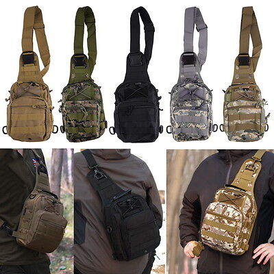 Outdoor Molle Sling Military Shoulder Tactical Backpack Camping Travel Bags MU