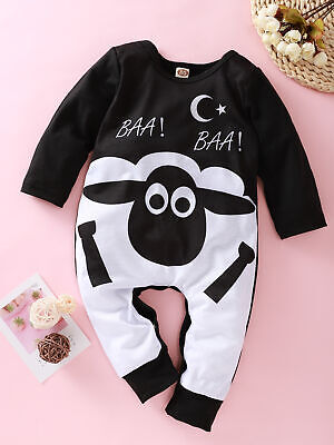 Newborn Toddler Kids Baby Boy Girl Clothes Cartoon Romper Playsuit Autumn Outfit