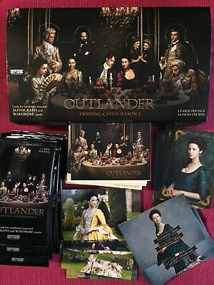 Outlander Trading Cards Season 2 99 cards, with display box and empty wrappers