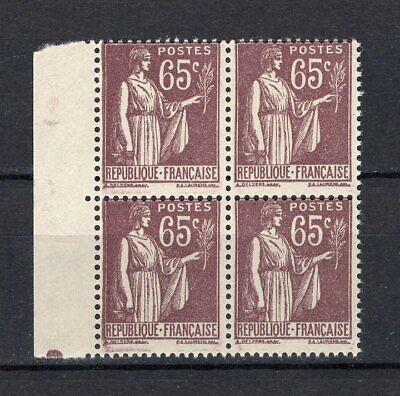 W414* Timbres France Neuf**MNH TBE Bloc de 4 + Marge (TYPE PAIX n°284) 1931