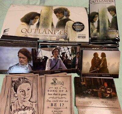 Outlander Trading Cards Season 3 96 cards, with display box and empty wrappers