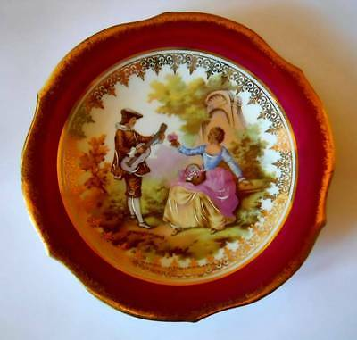 Vintage French Small Cabinet Plate Limoges Porcelaine d'Art R P France 134mm