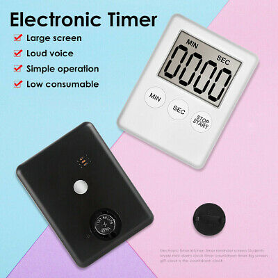 Large Digital LCD Kitchen Cooking Timer Count-Down Up Clock Alarm Magnetic KY