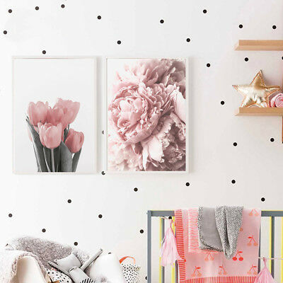 BU_ Nordic Tulip Flower Canvas Wall Painting Picture Poster Art Home Decor Prope