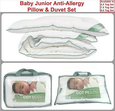 Baby Pillow and duvet Anti Allergy Set For Baby Crib Toddle Cot and Junior Bed
