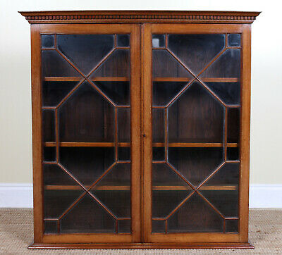 Antique Mahogany Glazed Bookcase Top Astragal Country Furniture Fine Quality